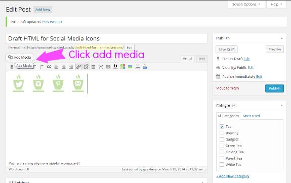 Adding social media images