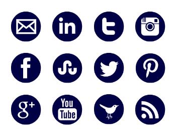 free, navy google + icon, navy twiter icon, navy youtube icon, navy rss icon, navy pinterest icon,  navy instagram icon