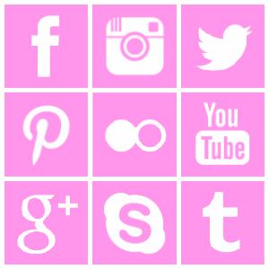 Free square social media icons, free pink square social media icons, Free pink google + icon, Free pink twitter icon, Free pink facebook icon, Free pink instagram icon, Free pink pinterest  icon, Free pink flickr icon, Free youtube icon, Free pink skype icon, Free pink tumblr icon