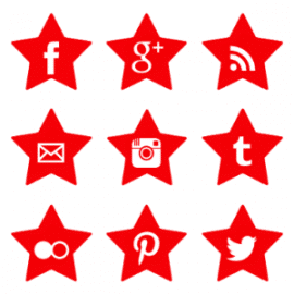 Free Red Star Social Media Icons