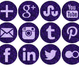 Free Purple Sparkle Social Media Icons