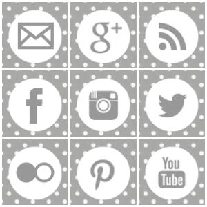 Free grey polka dot square social media icons