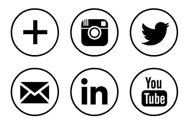 social media logos. free social media icons black circle rings logos l