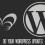 Do your WordPress updates