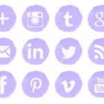 Free social media icons lilac watercolor