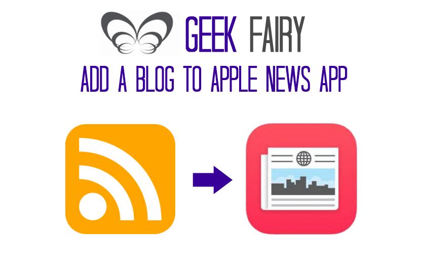 Adding a blog to apple news