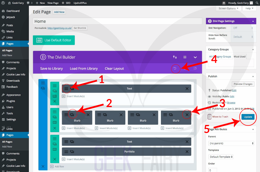 How to edit pages and posts in the Divi theme with the Divi Builder ...