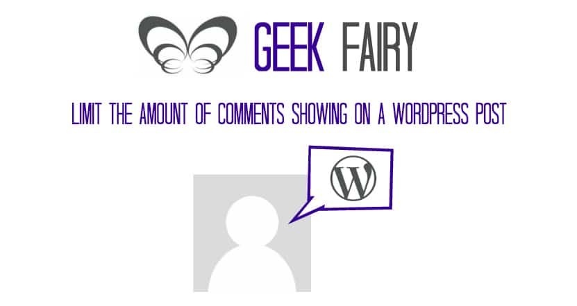 Limit the amount of comments showing on a wordpress post