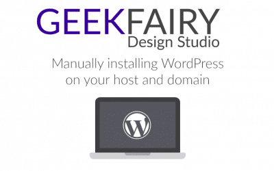 Manually installing WordPress on your host and domain